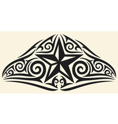 Star tattoo design vector