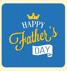 Happy father day calligraphic font with elements vector