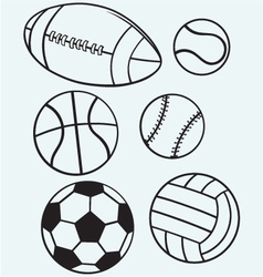 Collection sports balls vector