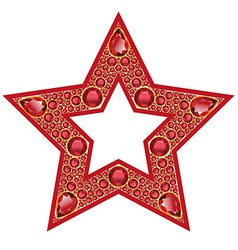Ruby star isolated object vector