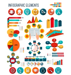 Big set of education infographics elements vector