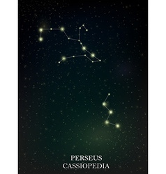 Perseus and cassiopedia constellation vector