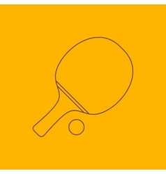 Ping pong line icon vector
