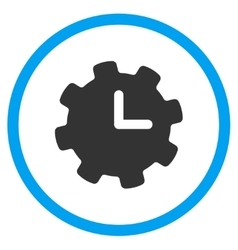Time configuration icon vector