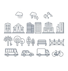 Transportation and city traffic infographics vector