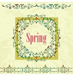 Spring graphic design on a green background vector
