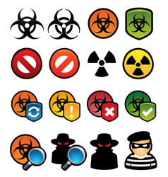 Malware icons vector
