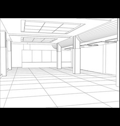 a modern interior room vector image vector image