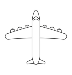 airplane transport flying travel thin line vector image