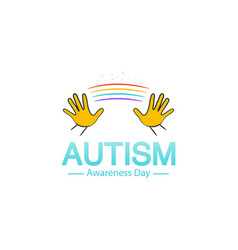 Autism awareness day logo design template vector
