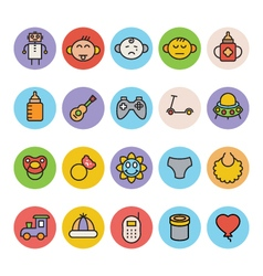 Baby icons 5 vector