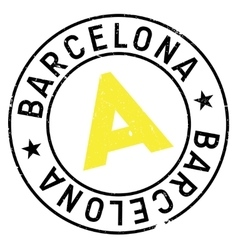 Barcelona stamp rubber grunge vector