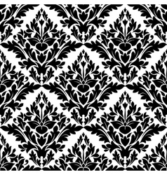 Beautiful floral seamless damask pattern vector