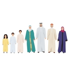 Big and Happy arab Family vector image vector image