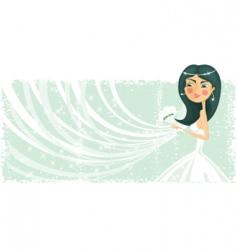 bride banner vector image vector image