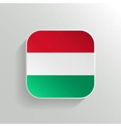 Button - hungary flag icon vector