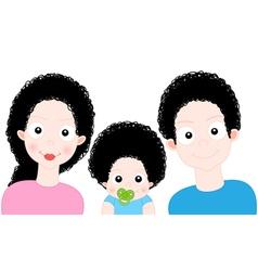 Cartoon Sweet Family vector image vector image