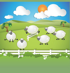 Counting sheep vector