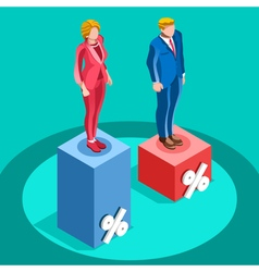 Election Infographic Pools Politics Isometric vector image