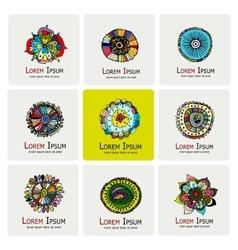 Floral logo set for your design vector image