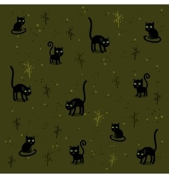 Funny cats pattern vector