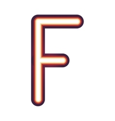 Glowing neon letter f vector