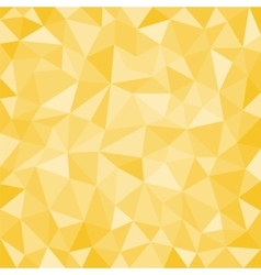 Gold low poly background vector image