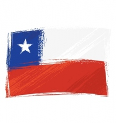 grunge Chile flag vector image vector image