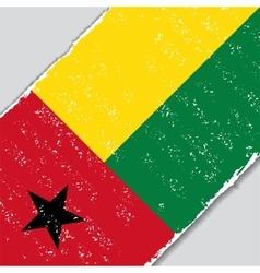 Guinea-bissau grunge flag vector