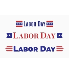 Labor day holiday in united states of america vector