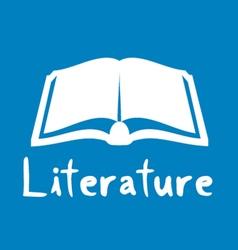 Literature icon vector