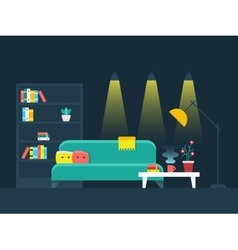 Living room interior flat vector image vector image