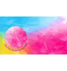 low polygonal bright color vector image vector image