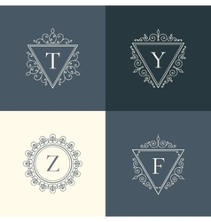 Luxury logo vintage vector image