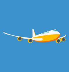 modern passenger plane on a light background vector image vector image