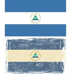 Nicaraguan grunge flag grunge effect can be vector