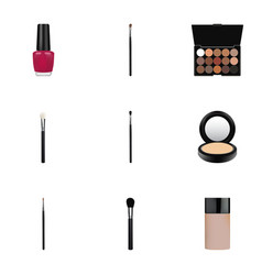 realistic make-up product concealer varnish and vector image vector image