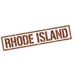 Rhode island brown square stamp vector