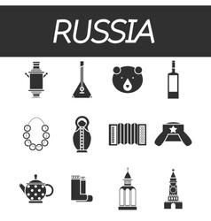 Russia icon set vector
