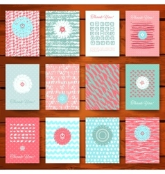 Set of grunge vintage cards vector image vector image