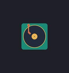 vinyl computer symbol vector image vector image