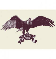 eagle spreading its wings vector image