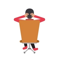Man sitting on back chair relaxing vector