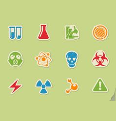 Science simply symbols vector