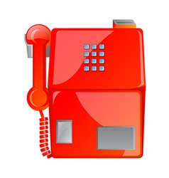 Icon public phone vector
