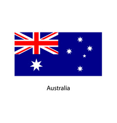 Flag of australia vector