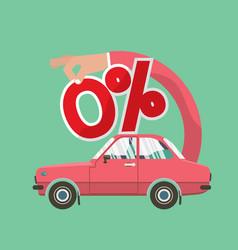 Zero percent car loan vector