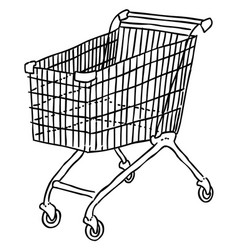 cartoon image of cart icon shopping symbol vector image