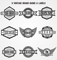 Vintage Brand Badge Labels vector image