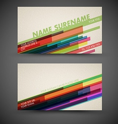 old-style retro vintage colorful business card vector image